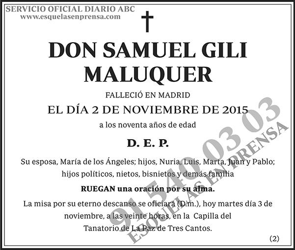 Samuel Gili Maluquer